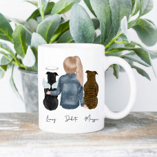 ** Custom Pets and Girls 15OZ WHITE CERAMIC MUG BYOT
