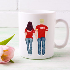 Custom Sports Couples 15OZ WHITE CERAMIC MUG BYOT