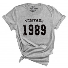 Custom Vintage Year Crew Neck T-Shirt