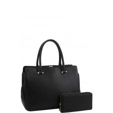 ** Cute Sleek Satchel With Matching Wallet