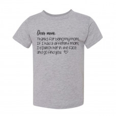 Dear Mom Toddler T-Shirt