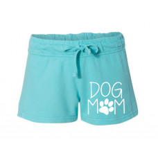 Dog Mom Printed French Terry Shorts