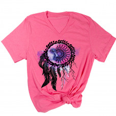 Dreamcatcher Moon V-Neck T-Shirt