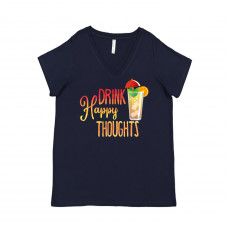 Drink Happy Thoughts Curvy Collection V-Neck