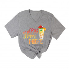 Drink Happy Thoughts  V-Neck