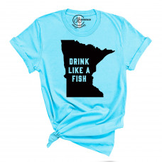 Drink Like a Fish Crew Neck T-Shirt