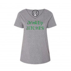 Drink Up Bitches Curvy Collection V-Neck