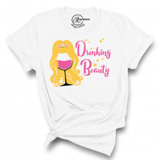 Drinking Beauty Crew Neck T-Shirt