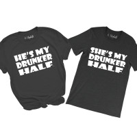 ~SALE~ He's My Drunker Half- XL / WHITE