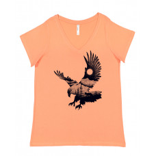 Eagle in Nature Curvy Collection V-Neck