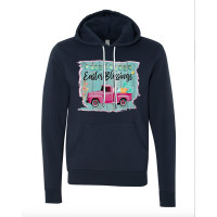 Easter Blessings Truck Fleece Hoodie