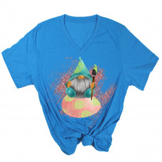 Easter Egg Gnome V-Neck T-Shirt