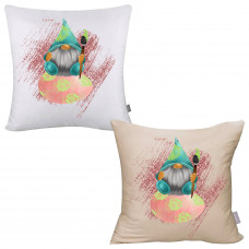 Easter Egg Gnome Pillow Cover