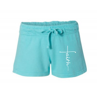 Faith Cross Printed French Terry Shorts