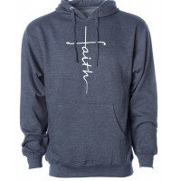 Faith Cross Fleece Hoodie
