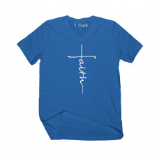 Faith Cross V-Neck