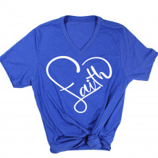 Faith Heart V-Neck T-Shirt