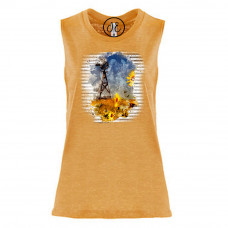 Farm and Sunflowers Festival Muscle Tank