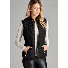 **Faux Shearling Lined Quilted Padding Vest (multiple colors)