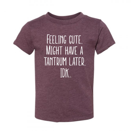 Feeling Cute. Might Have a Tantrum Later Toddler T-Shirt