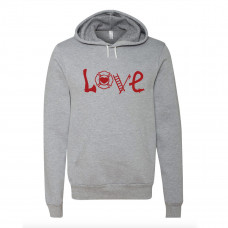 Firefighter Love Fleece Hoodie