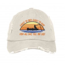 Fish All Day Embroidered Hat