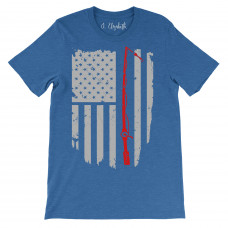 Fishing Flag Crew Neck T-Shirt