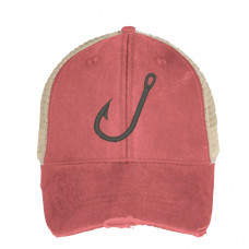 Fishing Hook Embroidered Hat