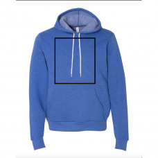 Heather True Royal Fleece Hoodie BYOT