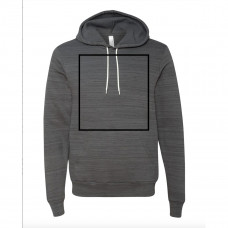 Dark Grey Marble Fleece Hoodie BYOT