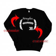 Football Grunge Custom Unisex Drop Sleeve Sweatshirt