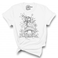 Friendly Fairy Crew Neck T-Shirt - Color Your SOUL