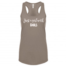 GIRL WITH GOALS TANK TOP