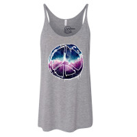 Galactic Peace Sign Slouchy Tank