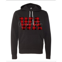 Glitter Plaid States Fleece Hoodie (ALL STATES!)