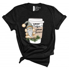 Gnome Coffee Gnome Workie Crew Neck T-Shirt