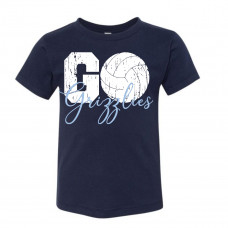 Go Grizzlies Volleyball Toddler T-Shirt