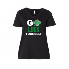 Go Luck Yourself Curvy Collection V-Neck