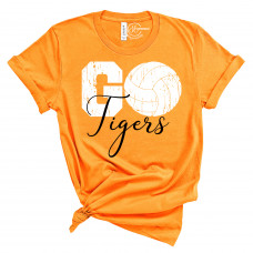 Go Tigers Volleyball Crew New T-Shirt - back and front