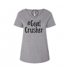 #GoalCrusher Curvy Collection V-Neck