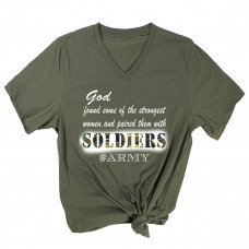 God Paired Strong Women With Soldiers V-Neck