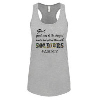 God Paired Strong Women With Soldiers Tank Top