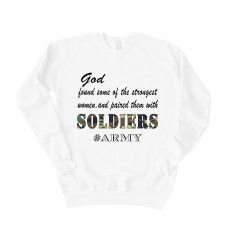 God Paired Strong Women With Soldiers Unisex Drop Sleeve Sweatshirt