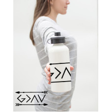 GOD IS GREATER THE THE HIGHS AND LOWS Water Bottle