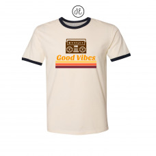 Good Vibes Jersey Ringer Tee