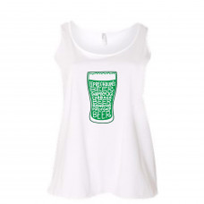 Green Beer Glass  Women's Curvy Collection Tank