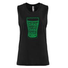 Green Beer Glass Festival Muscle Tank