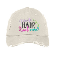 Mom Hair Embroidered Distressed Hat