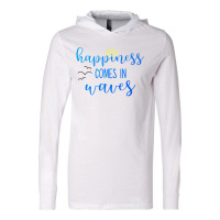Happiness Comes in Waves Lightweight Hoodie