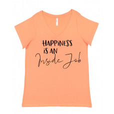 Happiness Is An inside Job Curvy Collection V-Neck